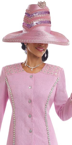 Beautiful Pink Designer Hat