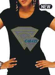 "Beautiful CARATS Logo Rhinestone Tee ""High End"""
