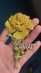 CARATS YELLOW AUSTRIAN CRYSTAL ROSE