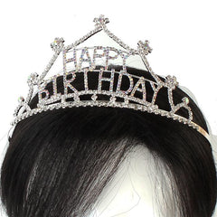 "Beautiful ""Happy Birthday"" Crystal Tiara"