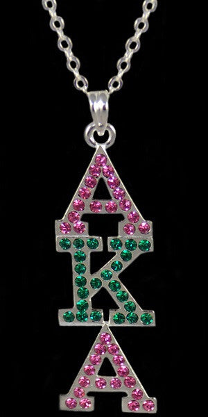 AKA Crystal Pink & Green Necklace