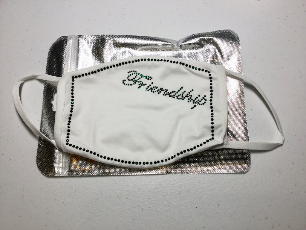 "Beautiful ""Friendship"" Rhinestone Face MASK"