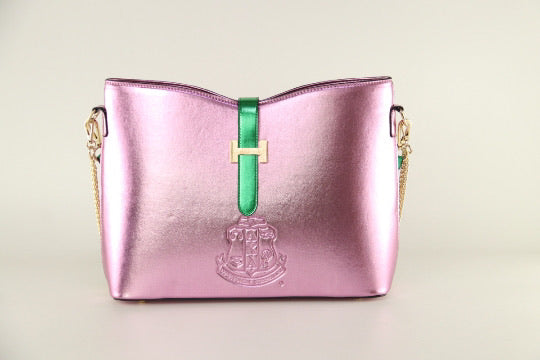 Beautiful AKA Pink and Green Bag of Distinction II, Available- IN STOCK