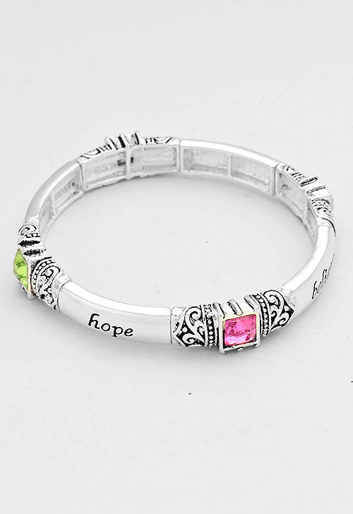 BELIEVE, FAITH, HOPE Bracelet