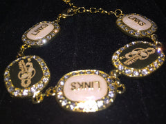 "LINKS Amazing "" Logo"" Bracelet (Matching Earrings and Pendant Available)"
