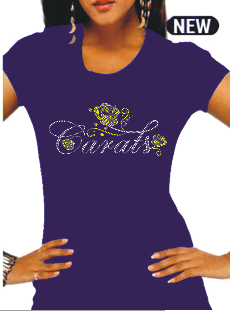 "CARAT Rosebuds Rhinestone Tee ""High End"""