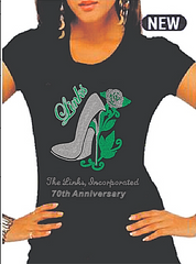 "Beautiful LINKS Rose ""High Heel"" Beautiful Bling Shirts (70th Anniversary Style Only)"