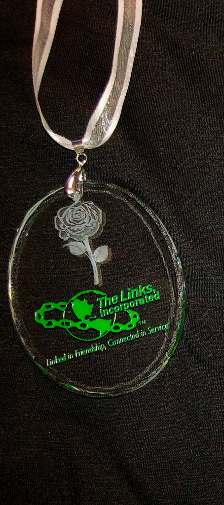 "LINKS SWAROVSKI CRYSTAL with Logo ""Friendship Keepsake"""