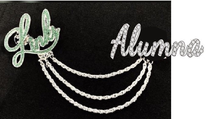 "Beautiful Links Alumna Crystal ""Chain"" Pin"