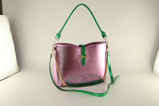 Beautiful AKA Pink and Green Bag of Distinction II, Available, Per-Order, June 2020, Boule