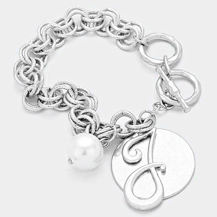 Jack & Jill  DISC CHARM LINKED CHAIN BRACELET