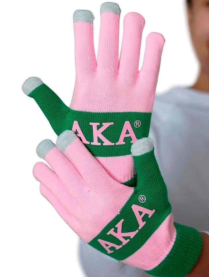 Beautiful Pink & Green Texting Gloves (SOLD OUT, Restock February 2021)