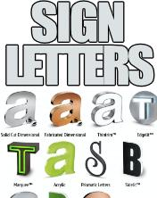 Dimensional Letters Lighted + Plain