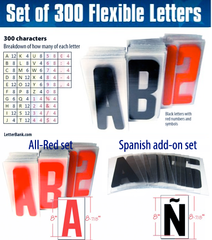 Flex/pvc letters. Flexible letters for portable readerboard roadside signs
