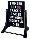 sidewalk swinger magicmaster sign with changable letter set