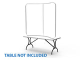 Curved Tension Fabric Tabletop Display, 6 foot