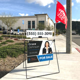 PROMOTIONAL Real Estate A-Frame with sign