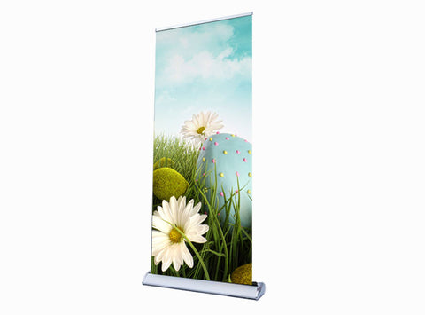 Banner Retractable with Stand 33x81""