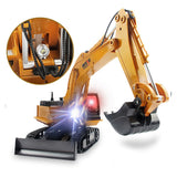 WOW RC Car HUINA 1510 11 Channel 2.4G Excavator 1:16 Remote Control / RC / Rechargeable / Electric