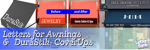 Awning CoverUp Graphic for your Business Canopy, Awning, Shades