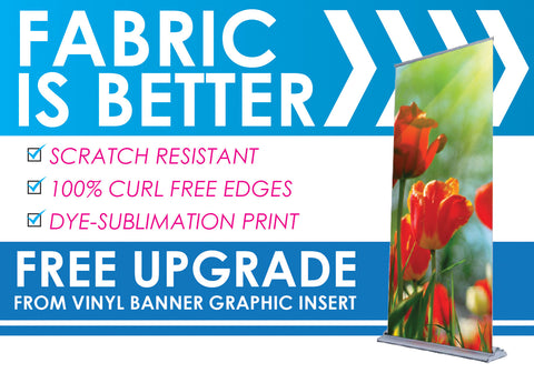 "Retractable Banner, Base + Bag 48"" x 92"""