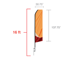 Banner Flags: Econo Feather 16 foot