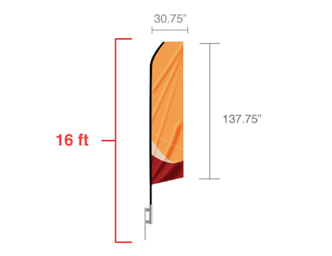 Banner Flags: 16ft Econo Feather Flag