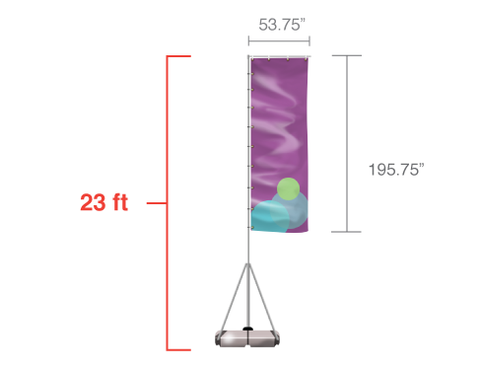 Banner Flags: 23ft Giant Flag Outdoor Banner Stand