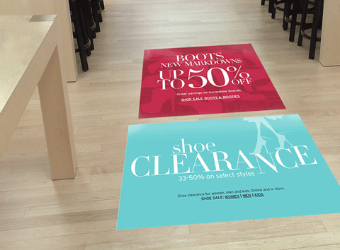 Floor Decals for sealed smooth floors
