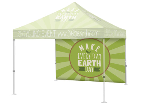 Event Canopy Tent Full Back Wall Accessory