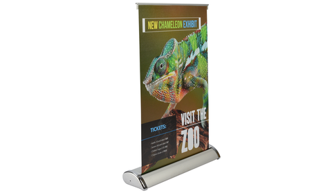 Table top display, retractible