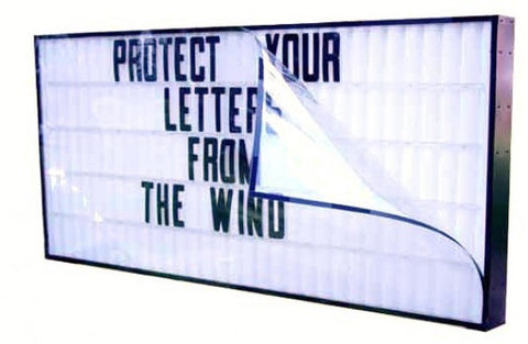 "Wind Protector / Letter Guard for 40"" x 96"" Economy Signs"