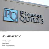 Business Sign Dimensional Letters