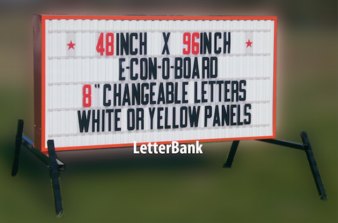 "Lighted Readerboard Econo Sign 48"" x 96"""
