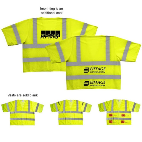 Safety Vest ANSI 3 Yellow