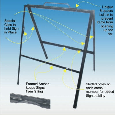 "Lightweight Angle Iron Frames (for 24"" x 18"" signs)"