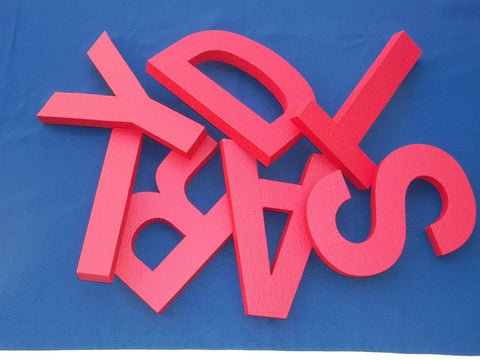 "Economy Foam Letters 1"" Thick PAINTED for OUTDOORS"