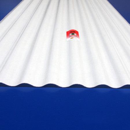 "Fiberglass Corrugated Sheets 26"" x 96"" WHITE"