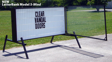 S-Wind 4x8 Readerboard with clear wind covers