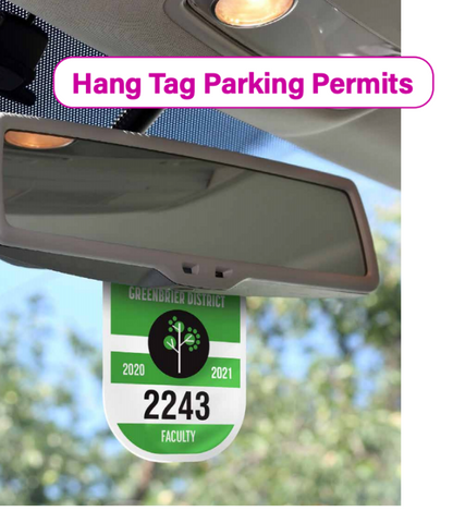 Rigid Parking Permits Hang Tags in 3 sizes