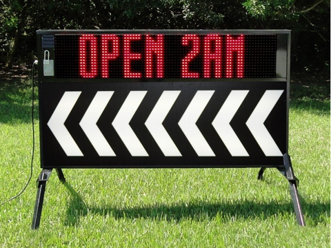 Portable Outdoor Sign with LED Display and Arrow Faces