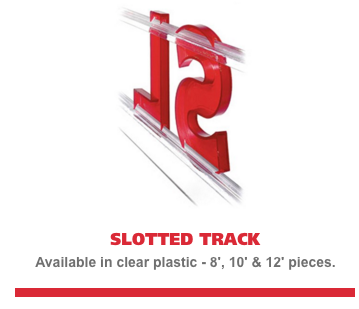 Slotted Marquee Letter Track