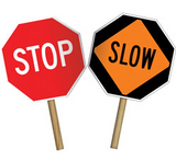 Slow / Stop Paddle Signs