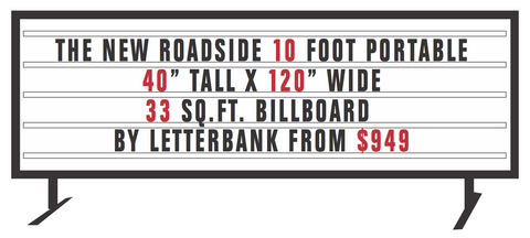 "Portable lighted sign 120"" x 40"""