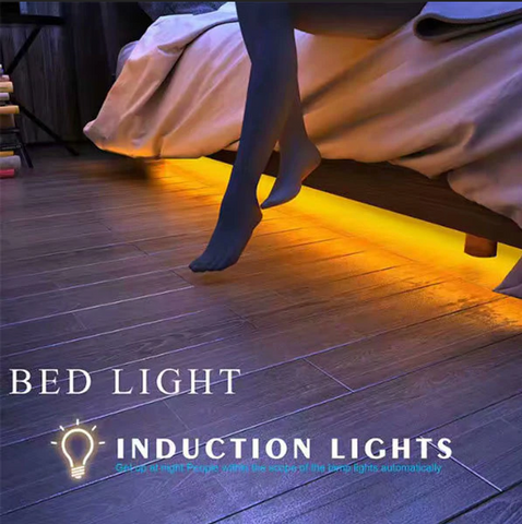 Motion activated under-bed night light