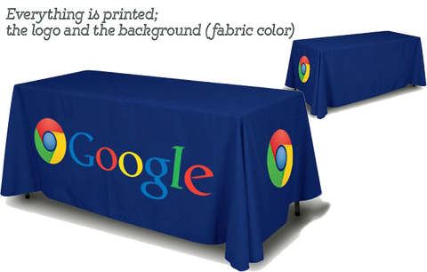 Economy 6 foot tablecloth printed in full color, full back