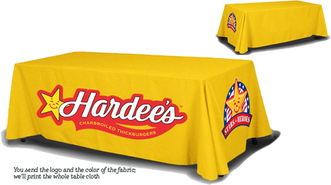 Economy 8 ft. Table Cloth printed in full color, full back