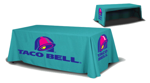 Economy 6 foot Table Cloth printed in full color, open back