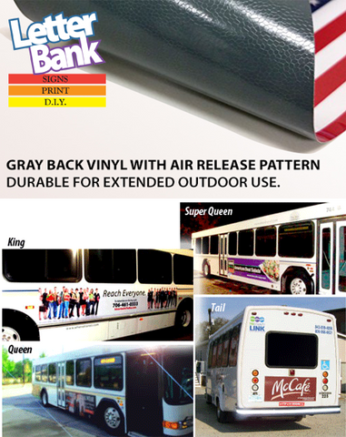 Printed Self-Adhesive Ads for sides of Buses, LRVs, Airport Transit, Trolleys