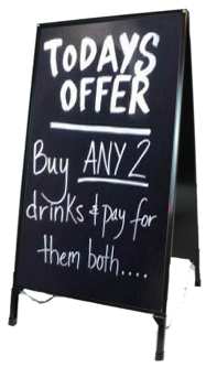 Easy to use Chalkboard Sign